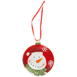 Hanging Christmas Bauble Snowman