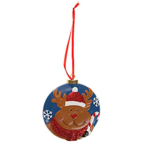 Hanging Christmas Bauble Reindeer
