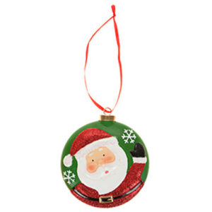 Hanging Christmas Bauble Santa