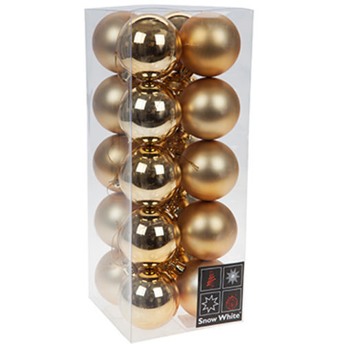 Luxury Bauble Set of 20 - Gold