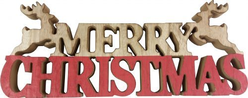Freestanding Wooden Merry Christmas Sign