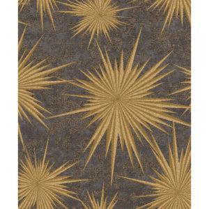 Crown Wallcoverings Luxe Vinyl Wallpaper Quantum Star M1143 Ebony/Gold Sample