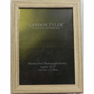 Handcrafted Wooden Photo Frame Light Wood 5_7