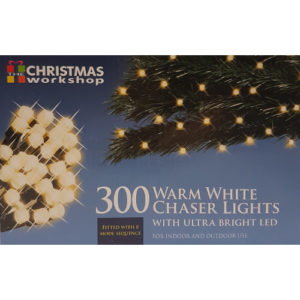 Indoor/Outdoor 300 LED Warm White Chaser Lights with Sequencer