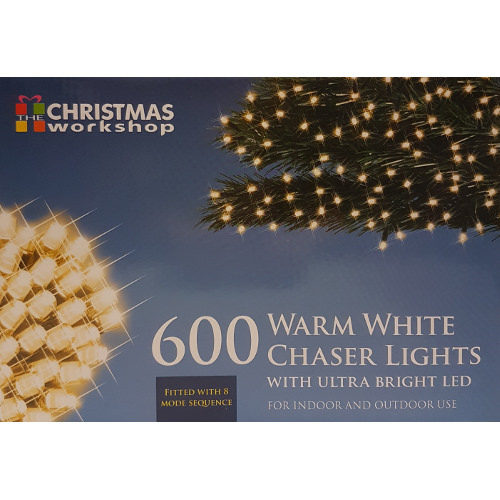 Indoor/Outdoor 600 LED Warm White Chaser Lights with Sequencer