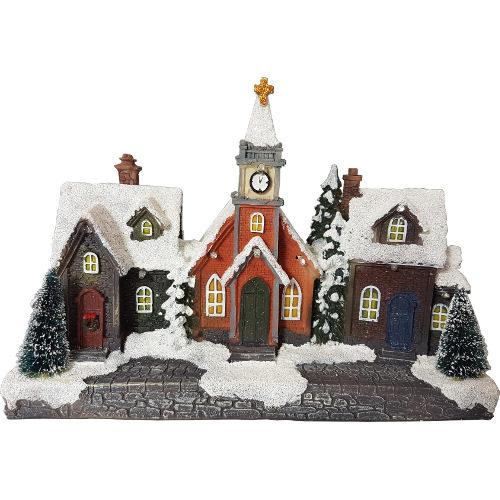Christmas Scene Light Up House