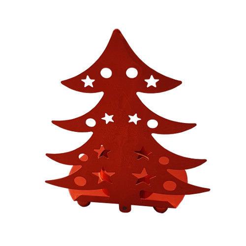Festive Tealight Holder Red Trees