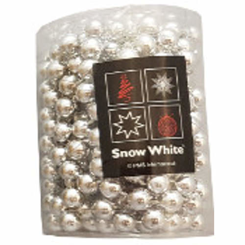 Beaded Christmas Tree Chain 4m Silver