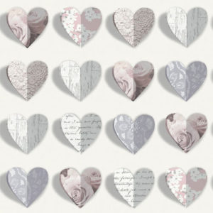 Arthouse Olivia Hearts Blush 669701 Sample