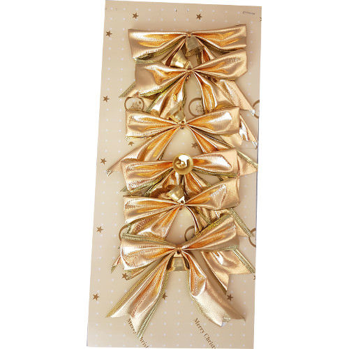 Christmas Tree Bows Pack of 6 Gold