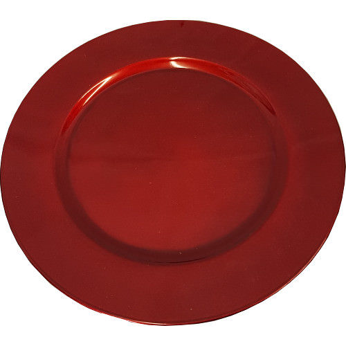 Charger Plate Sparkle Red