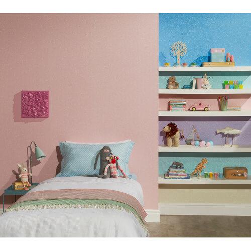 Glitterati Plain Pink Glitter Vinyl Wallpaper 892203 Full Roll
