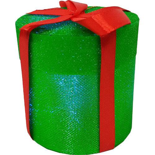 Light Up Christmas LED Drum Tree Decoration Green