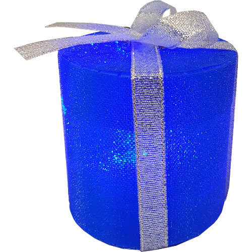 Light Up Christmas LED Drum Tree Decoration Blue
