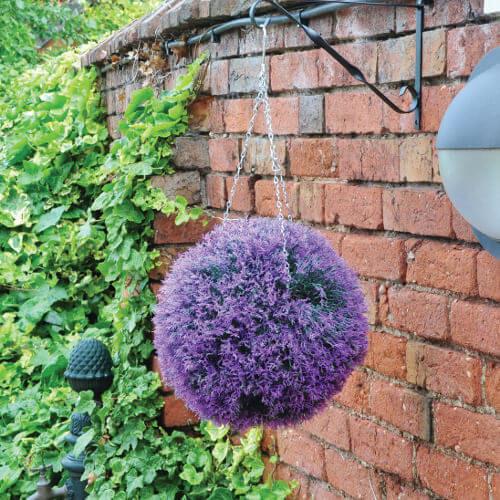 Artificial Lavender Decorative Ball 30cm Purple