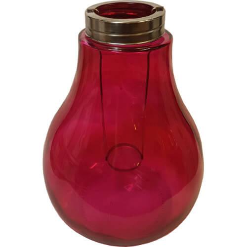 Bulb Shaped Candle Lantern Pink