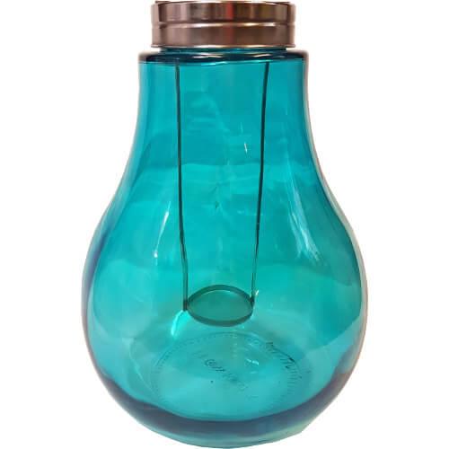 Bulb Shaped Candle Lantern Blue