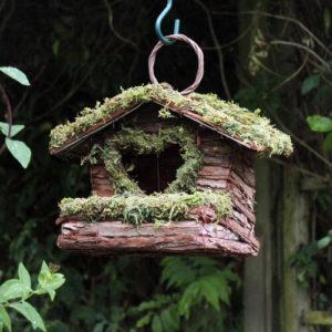 Heart Design Wooden Bird Nester Green