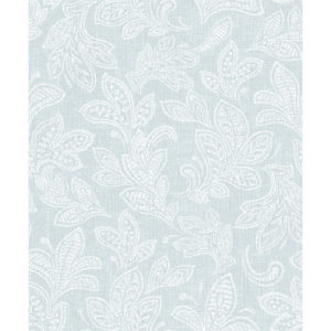 CWV Wallpaper Calico Leaf Blue M1151 Sample