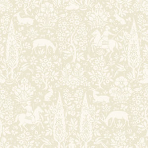 Crown Wallcoverings Woodland Wallpaper Cream M1165 Sample