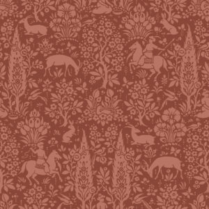 Crown Wallcoverings Woodland Wallpaper Brick Red M1170 Sample