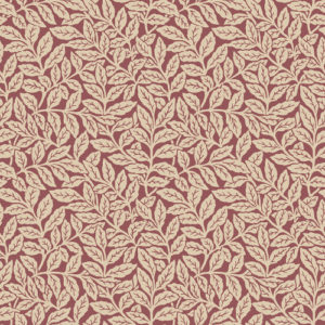 Crown Wallcoverings Ash Branch Wallpaper Red M1181 Sample