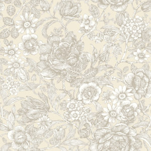 Crown Wallcoverings Wild Hedgerow Wallpaper Natural M1184 Sample
