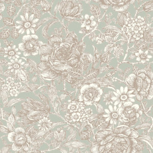 Crown Wallcoverings Wild Hedgerow Wallpaper Light Moss M1185 Sample