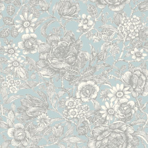 Crown Wallcoverings Wild Hedgerow Wallpaper Light Blue M1186 Sample