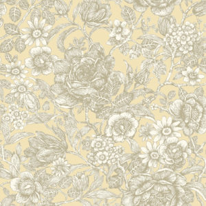 Crown Wallcoverings Wild Hedgerow Wallpaper Buttermilk M1187 Sample
