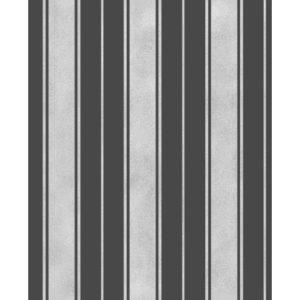 Fine Decor Wentworth Glitter Wallpaper Stripe Black & Silver FD41701 Sample