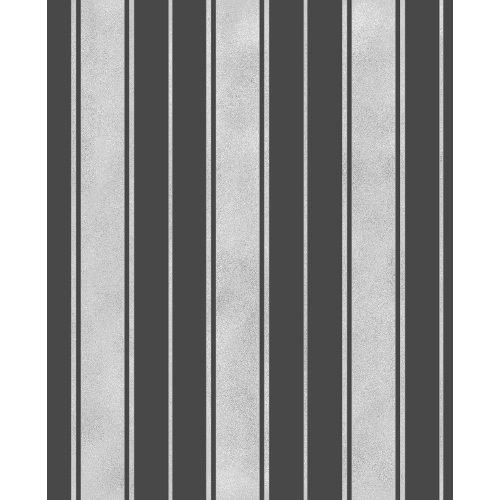 Fine Decor Wentworth Glitter Wallpaper Stripe Black & Silver FD41701 Sample