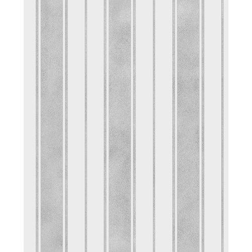 Fine Decor Wentworth Glitter Wallpaper Stripe Grey & Silver FD41704 Sample