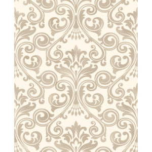 Fine Decor Wentworth Glitter Wallpaper Damask Cream & Gold FD41706 Sample