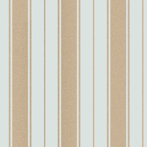 Fine Decor Wentworth Glitter Wallpaper Stripe Duck Egg & Gold FD41710 Sample