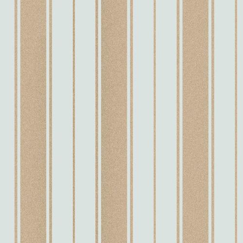 Fine Decor Wentworth Glitter Wallpaper Stripe Duck Egg & Gold FD41710 Sample