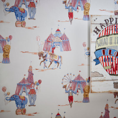 Arthouse Imagine Fun Wallpaper Circus Fun Red/Blue 696001 Full Roll