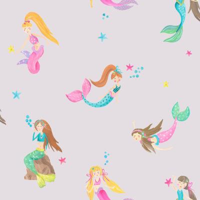 Arthouse Imagine Fun Wallpaper Mermaid World Lilac 696102 Full Roll