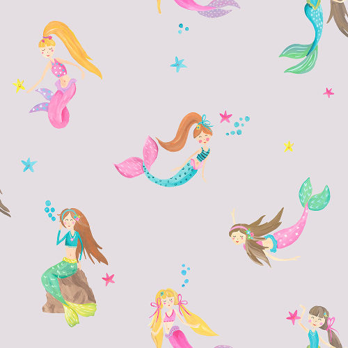 Arthouse Imagine Fun Wallpaper Mermaid World Lilac 696102 Full Roll