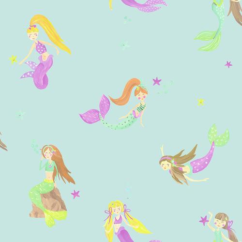 Arthouse Imagine Fun Wallpaper Mermaid World Teal 696103 Full Roll