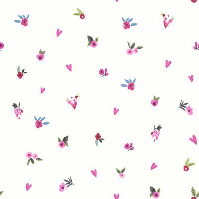 Arthouse Imagine Fun Wallpaper Paris with Love Plain White Multi 696106 Full Roll