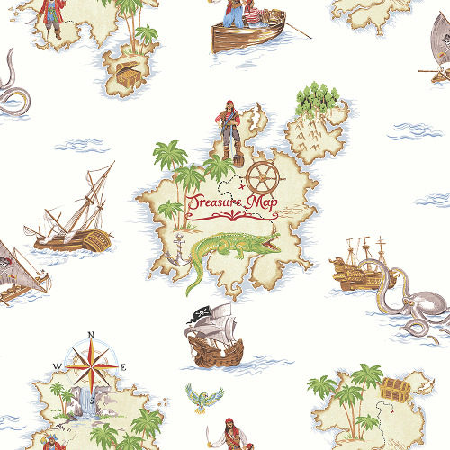 Arthouse Imagine Fun Wallpaper Pirates Ahoy Multi 696107 Full Roll