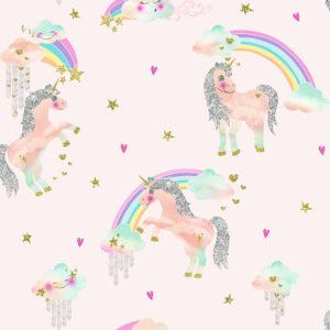 Arthouse Imagine Fun Wallpaper Rainbow Unicorn Pink 696108 Full Roll