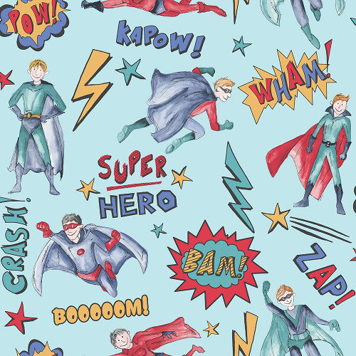 Arthouse Imagine Fun Wallpaper Superhero Blue 696200 Full Roll