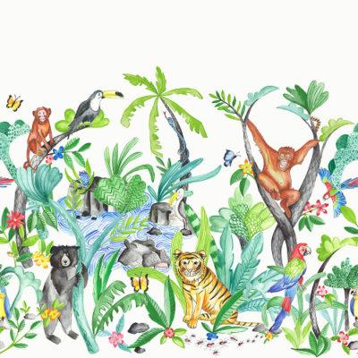 Arthouse Imagine Fun Wallpaper Frieze Jungle Mania 696300
