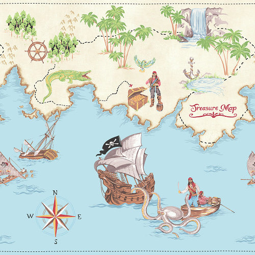 Arthouse Imagine Fun Wallpaper Frieze Pirates Ahoy 696303