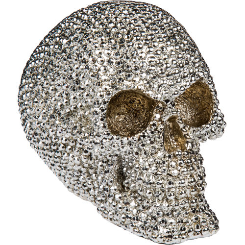 Bling Metal Skull Silver