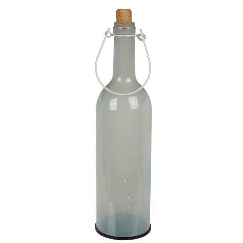 "12"" Light Up Pastel Wine Bottle White"