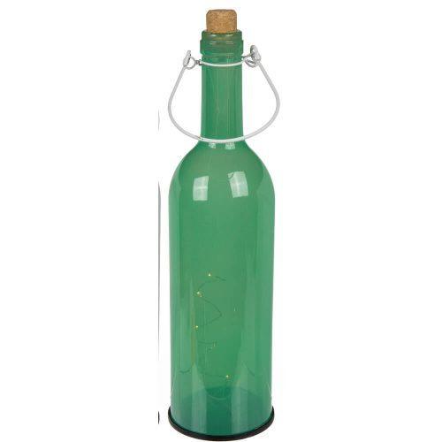 "12"" Light Up Pastel Wine Bottle Green"