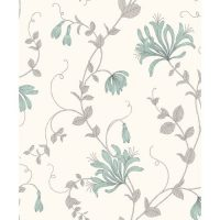 Crown Wallcoverings Amelie Wallpaper Duck Egg Blue M1305 Sample